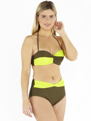 M&Co Beachcomber twist front bikini set