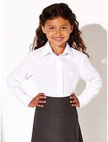 John Lewis The Basics Girls' School Blouse, Pack of 2, White