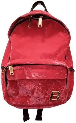 Bally Pink Velvet Backpacks