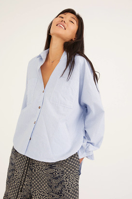 BDG Quinn Button-Front Blouse
