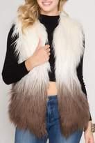 She + Sky Ombre Fur Vest