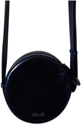 Diane von Furstenberg Navy Patent leather Handbags