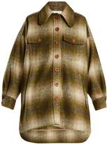 Chloé Single-breasted checked mohair-blend coat