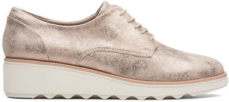 Clarks Sharon Crystal Suede Brogues