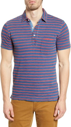 Faherty Breton Stripe Pocket Polo