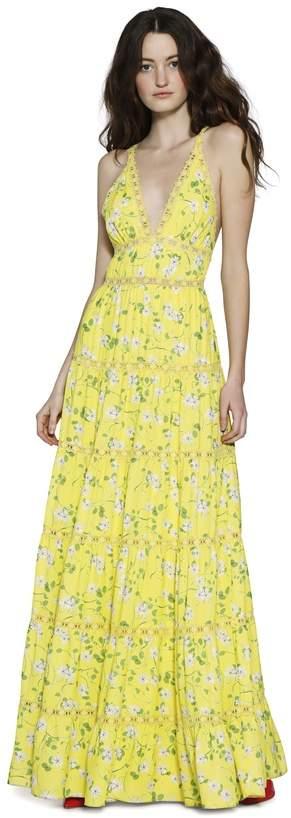 Alice + Olivia Karolina Paneled Halter Maxi Dress