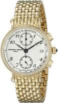 Frederique Constant Women's FC291A2RD5B Analog Display Swiss Quartz Yellow Watch