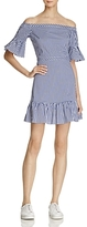 Lucy Paris Heidi Gingham Off-the-Shoulder Ruffled Dress - 100% Exclusive