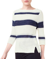 Precis Petite Petite Striped Tape Yarn Jumper