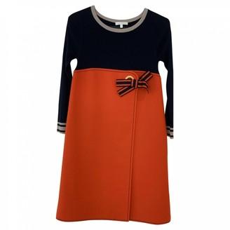 Paule Ka Orange Wool Dress for Women