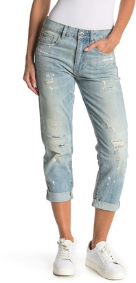 G Star 3301 Distressed Mid Rise Boyfriend Jeans
