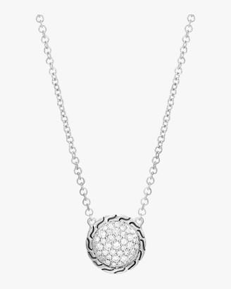 John Hardy Classic Diamond Pave Round Pendant Necklace