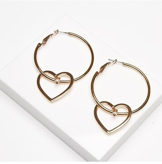 Johnny Loves Rosie Hallie Heart Hoop Earrings