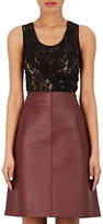 Nina Ricci WOMEN'S RUCHED LACE SLEEVELESS TOP