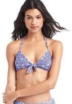 Gap Floral tie-front bikini top