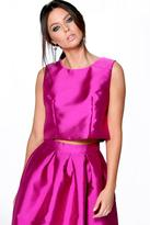 boohoo Alice Sateen Sleeveless Shell Top violet