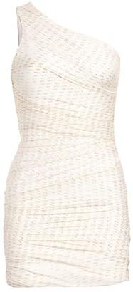 HANEY Tinsley One-Shoulder Drape Sheath Dress