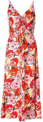 Rebecca Vallance Blume floral-print slip dress