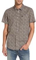 RVCA Men's Cluster Floral Print Woven Shirt