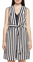 BCBGeneration Striped Tie-Belt Vest
