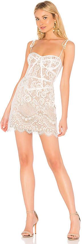 For Love & Lemons Tati Lace Corset Dress