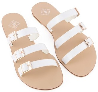 Gallery Seven Tri-Strap Slide Sandals for Women