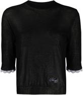 Philosophy di Lorenzo Serafini sheer 3/4 sleeves pullover