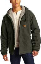 Carhartt Men's Big & Tall Hooded Multi Pocket Jacket Sherpa Lined Sandstone