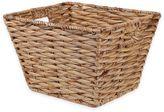 Medium Rectangular Tapered Water Hyacinth Wicker Basket in Natural