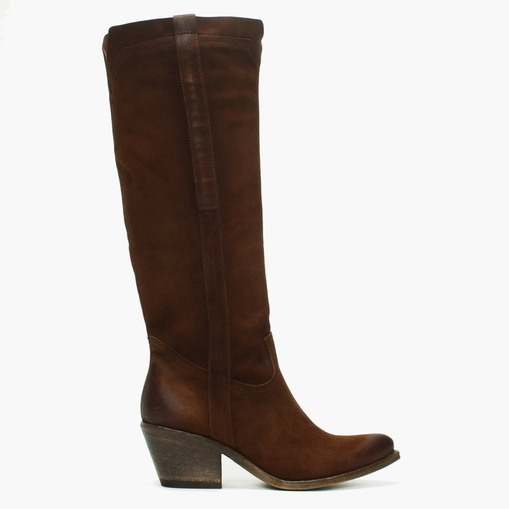Daniel Mister Tan Suede Slouchy Western Knee Boots