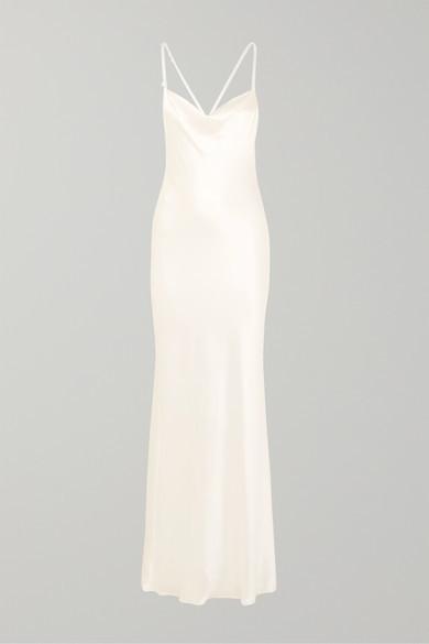 Galvan Whiteley Silk-satin Gown - Ivory