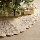 Pier 1 Imports Sequined Tree & Snowflake Tree Skirt