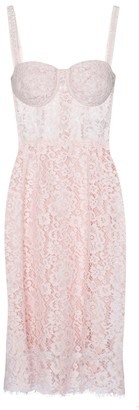 Dolce & Gabbana Bustier lace midi dress