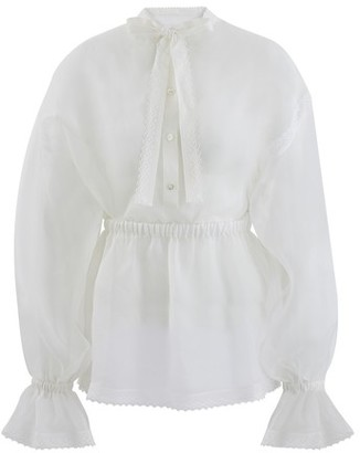 Dolce & Gabbana Transparent silk blouse