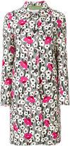Valentino Falling Flowers coat - women - Silk/Polyamide/Spandex/Elastane/Virgin Wool - 38