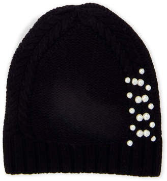 Badgley Mischka Cable Knit Slouchy Hat