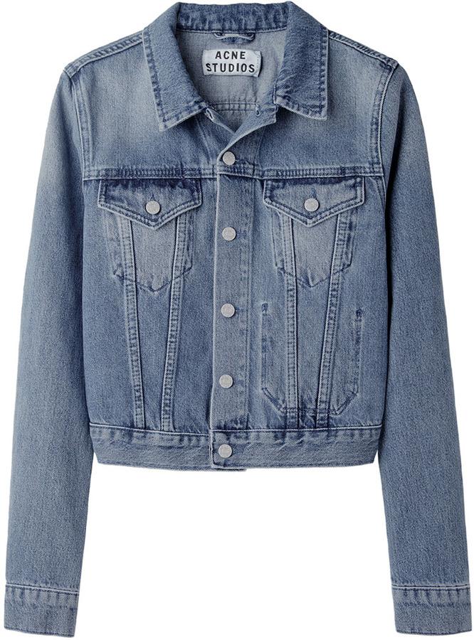 Acne Tag Light Vintage Denim Jacket
