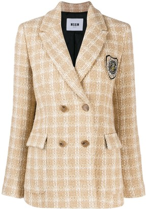MSGM Tweed Double Breasted Jacket