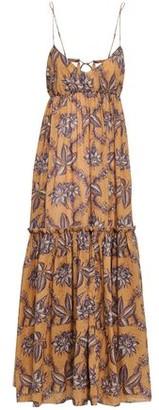 Zimmermann Gathered Floral-print Cotton Maxi Dress