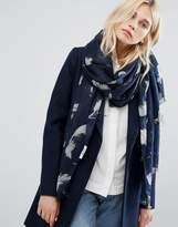 Pieces Printed Scarf