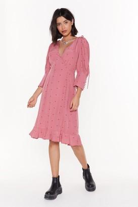 Nasty Gal Womens Do Spot Disturb Wrap Midi Dress - Pink - 4