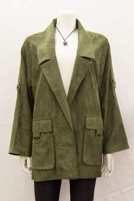 Ivy Jane Suede Notched-Lapel Coat
