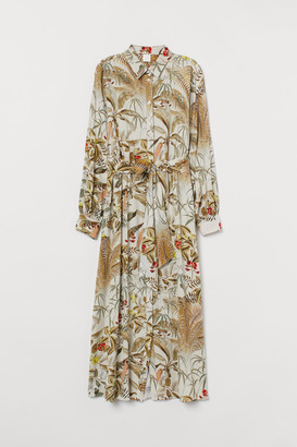 H&M Shirt Dress with Tie Belt - Beige