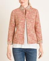 Chico's Chicos Embellished Tweed Jacket