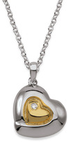 Bed Bath & Beyond My First Diamond Sterling Silver and 18K Gold Diamond Heart Pendant Necklace
