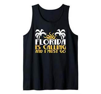 Florida Is Calling And I Must Go Graphic Design Tank Top