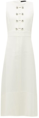 Proenza Schouler Bar-embellished Cut-out Crepe Dress - Womens - White
