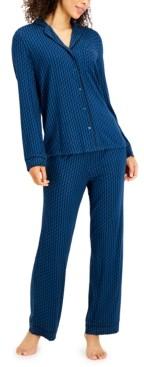 Alfani Printed Ultra-Soft Pajama Set, Created for Macy's