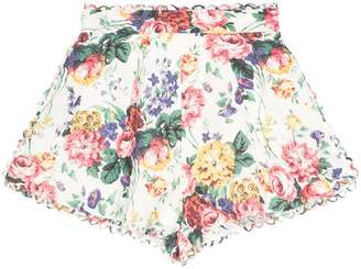 Zimmermann Allia floral print shorts