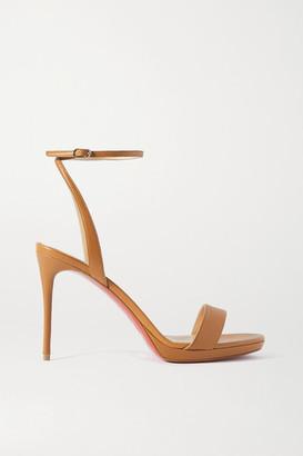 Christian Louboutin Loubi Queen 100 Leather Sandals - Tan